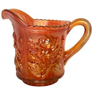Creamer Pitcher Lustre Rose Carnival Glass